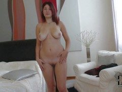 Attractive pale redhead babe Nanny with curvy hips and beamy