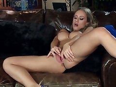 Splendid gal Nicole Aniston loves being home alone. She quickly gets of course unconcealed