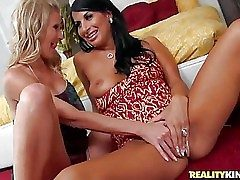 Brianna Gleam and Sophia Bella are two good with bated breath milfs