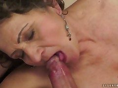 Brunette hussy fro socking breast is hungry for pussy fucking