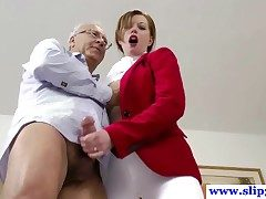 British unpaid pussyfucked by an old mans hard cock and loves crimson