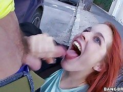 Amarna Miller is a cute red-haired Spanish nymph that enjoys