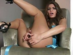 Madelyn Marie with massive knockers and shaved snatch