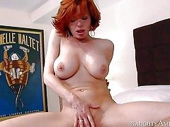 Sex starved red-haired mother Veronica Avluv takes off her undies