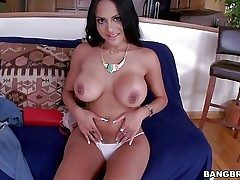 Dark haired gal Kimberly Kendall is a breathtaker with succulent
