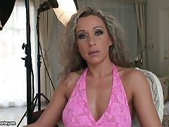 Curly haired milf Angie Benefactress has team a few uniformly to be fucked and all of them are abundantly false